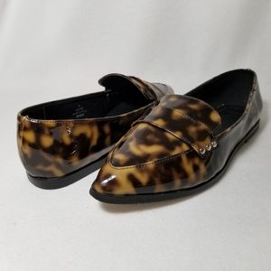 Asos Pointed Toe Patent Leopard Flats - Size 6M